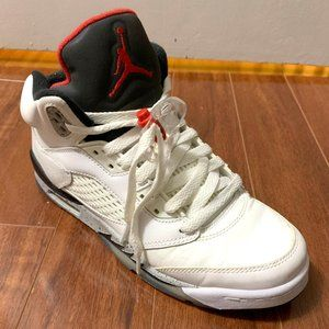 Jordan 5 White Cement (2017) Size 6Y